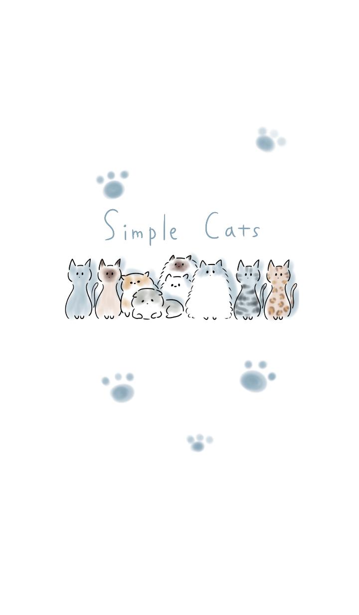 Photo of Simple Una variedad de gatos. – Tema LINE | TIENDA LINEA