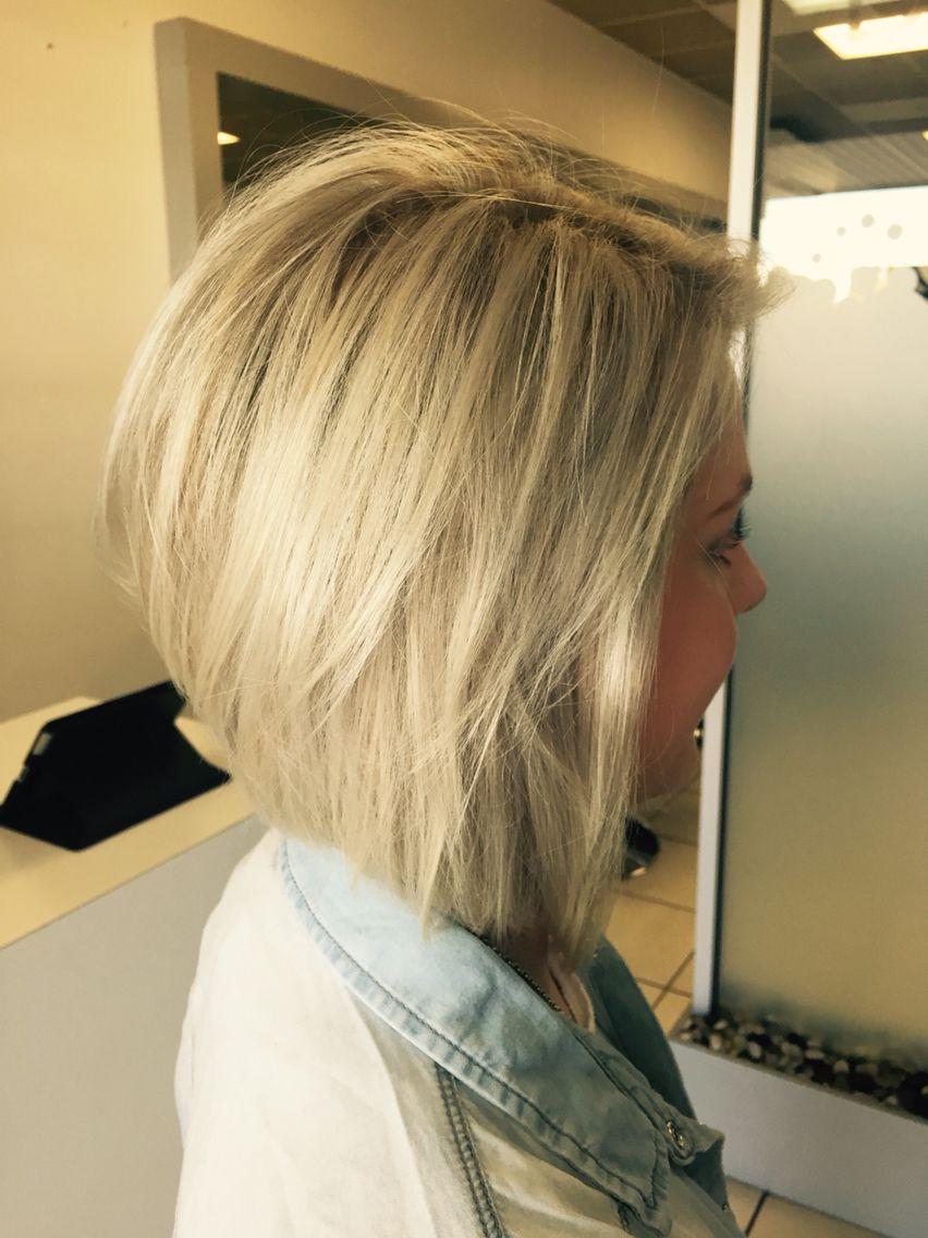 My hair - blonde concave bob  Concave bob hairstyles, Bob