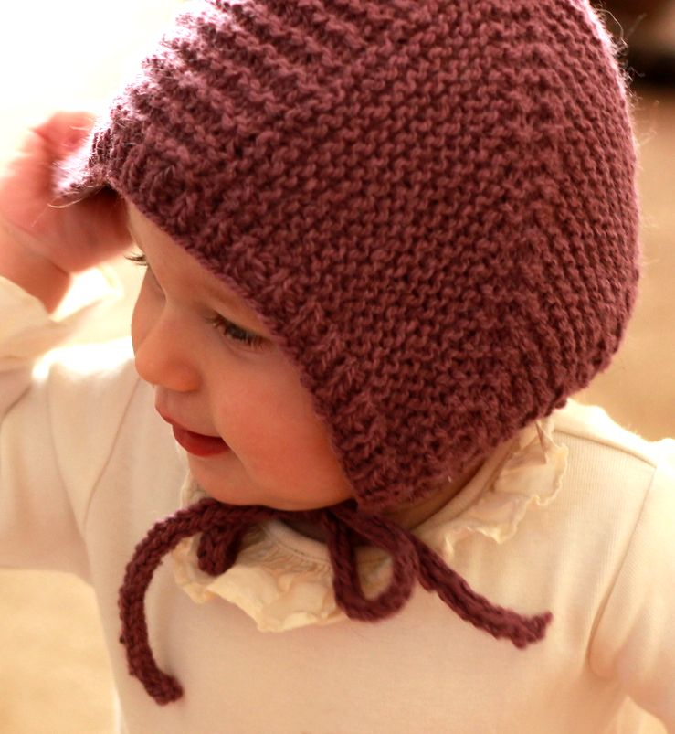 Knitting Pattern for Pilot Cap - A quick and easy aviator hat in garter  stitch. Sizes from newborn to large child. Desgned by Abby Belnap. 0065667bfb5