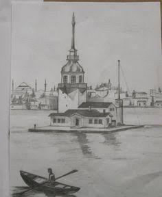 karakalem manzara kız kulesi ile ilgili görsel sonucu