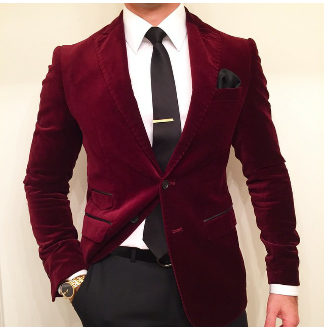 Mens Style Formal Work Office Business Suit Blazer Slim Fit Luxury Coat Jacket