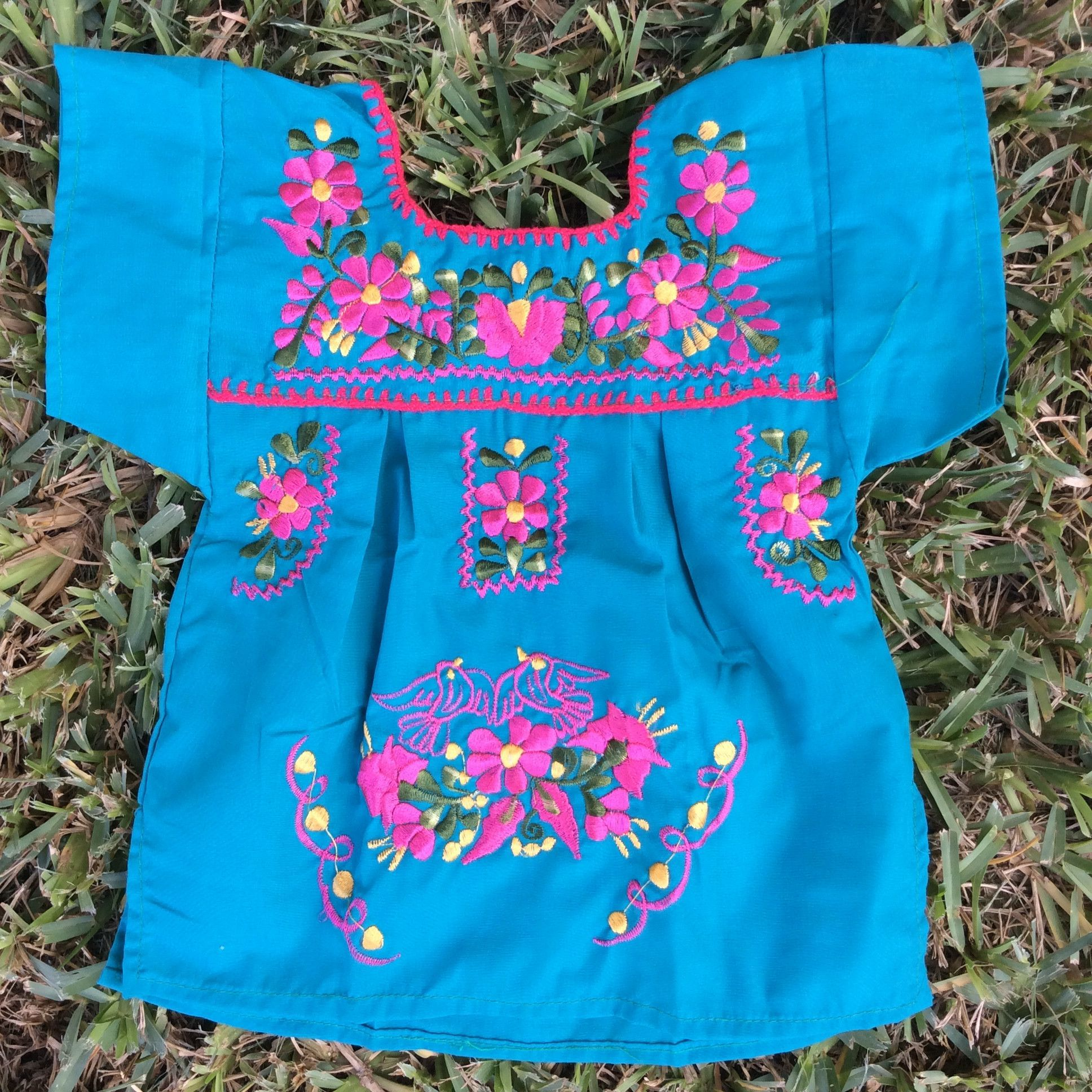 Mexican Embroidered Traditional Dress for Girls Size 12 Months