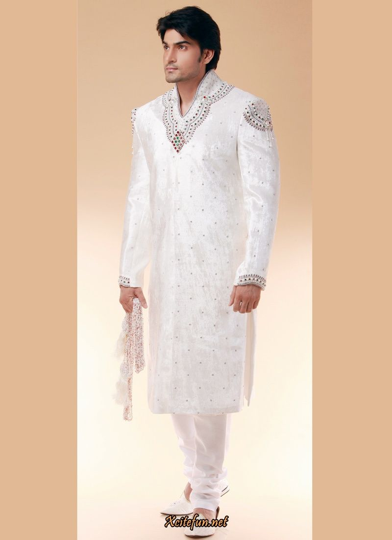 Indian wedding dresses indian groom dress wedding for Wedding dress shirts for groom