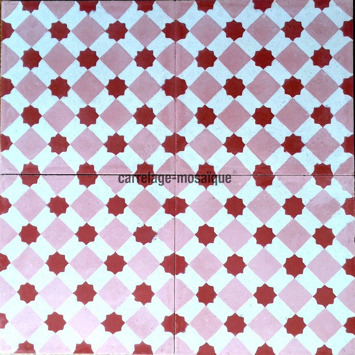 carreaux ciment pas cher sol et mur 1m2 modele frizy rouge carrelage mosaique carreaux. Black Bedroom Furniture Sets. Home Design Ideas