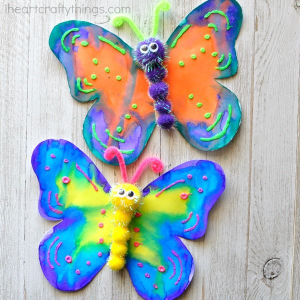 This Gorgeous Butterfly Craft Makes A Great Spring Kids Insect For Preschool Fun Crafts And Activities