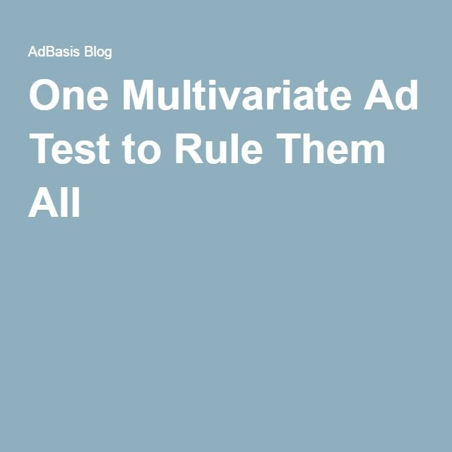 One Multivariate Ad Test to Rule Them All