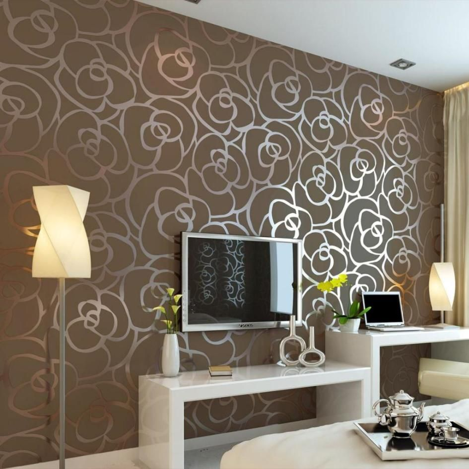 Get Your Wallpaper Through The Magazines for Home Interior Design : Modern Brown Flower ...