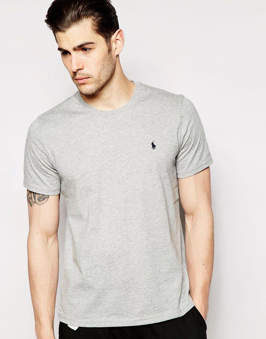 Polo Ralph Lauren Grey Crew Neck T-Shirt Regular Fit at asos.com