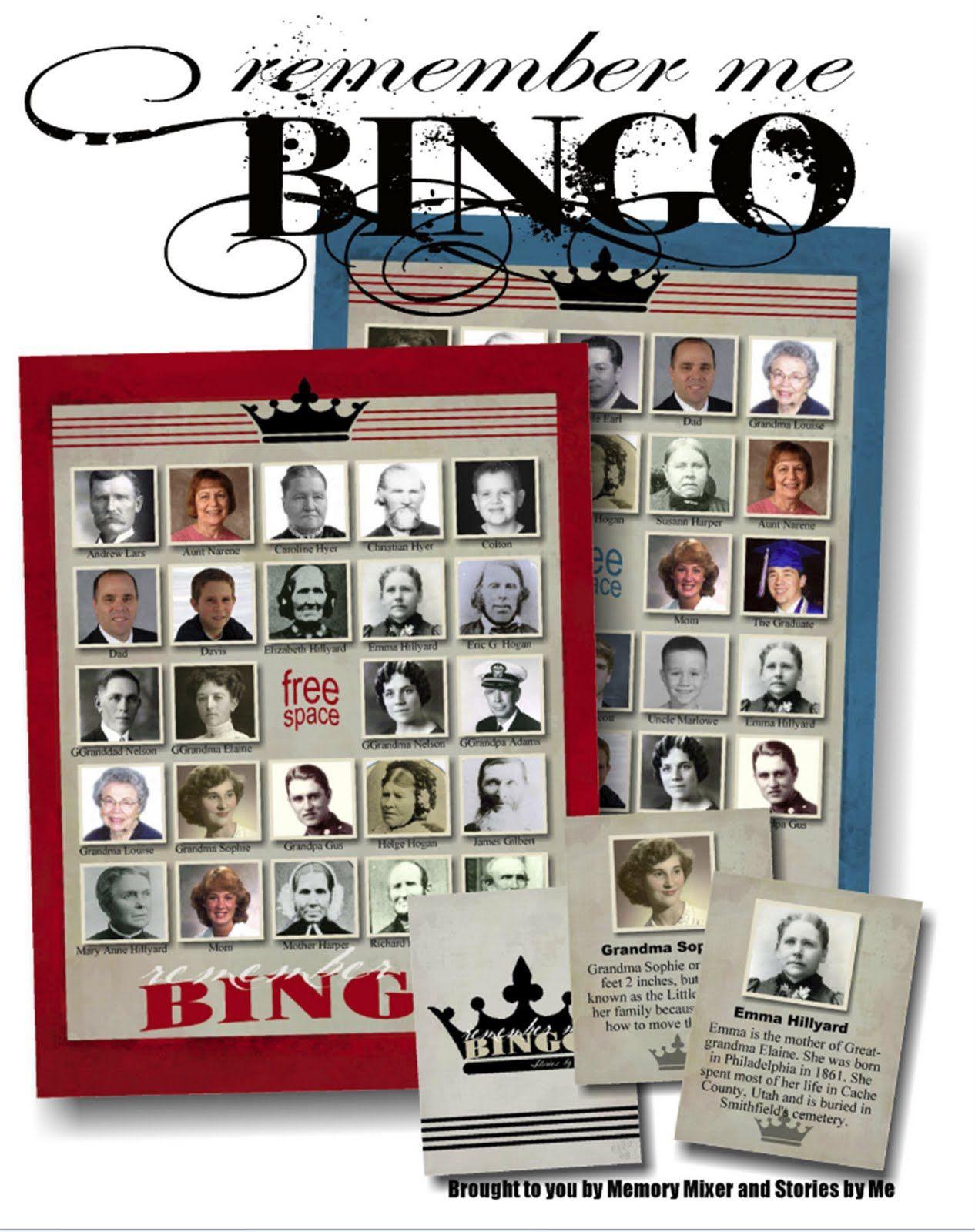Remember Me Bingo