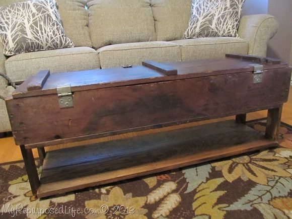 Repurposed Vintage Ammo Box Coffee Table Diy Home Ideas