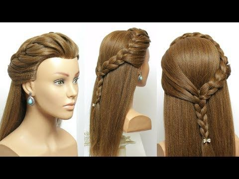Easy Party Hairstyles Beautiful Hairstyle With Braid Youtube Braided Hairstyles Easy Hair Styles Braided Hairstyles