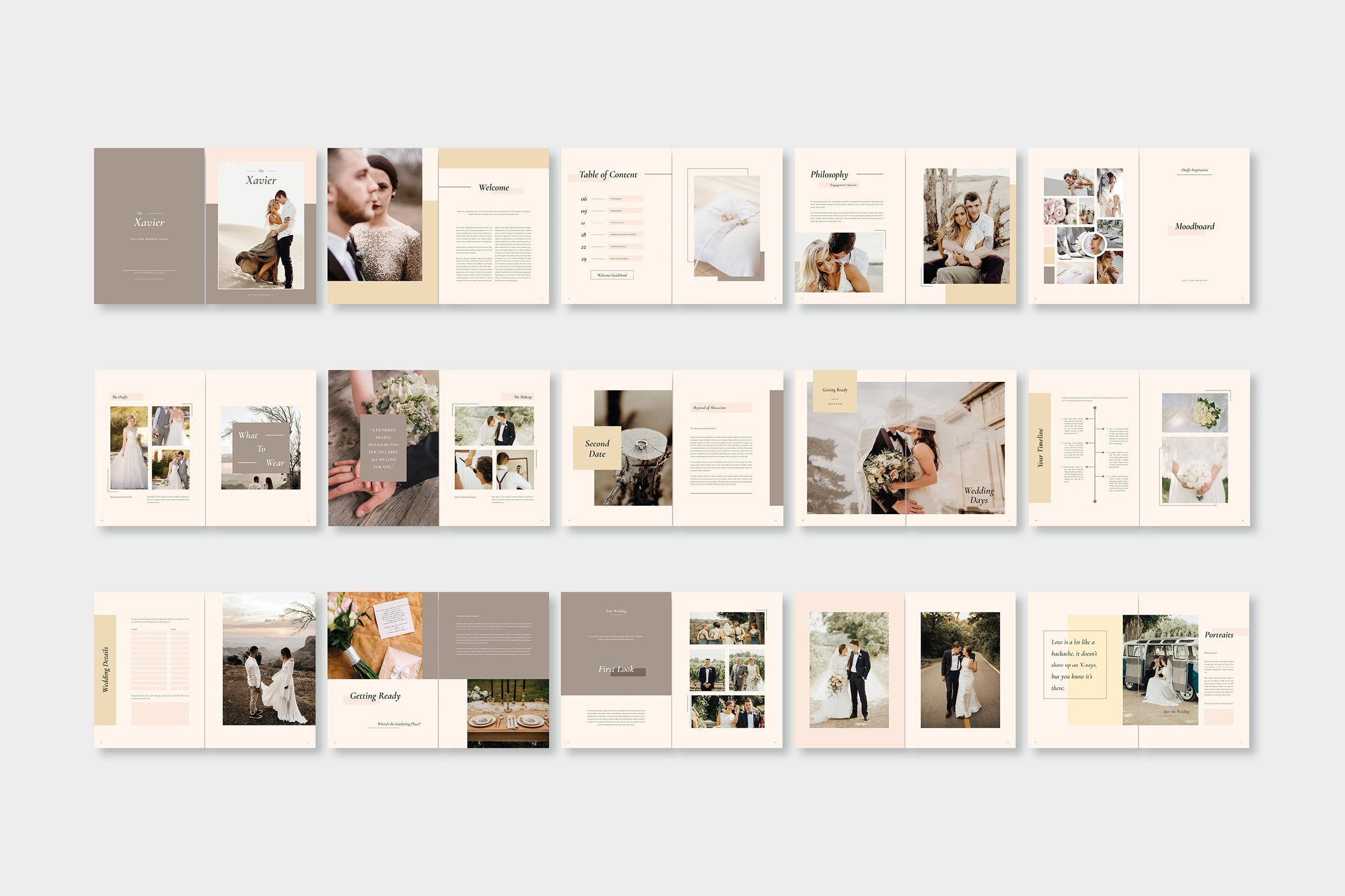 Wedding Photography Guidebook Template for Photographers Package Marketing Guide Template XAVIER Canva Indesign INSTANT DOWNLOAD