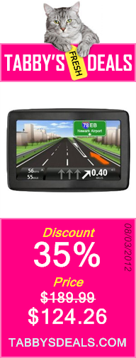 TomTom VIA 1405TM 4.3-Inch Portable GPS Navigator with Lifetime Traffic & Maps $124.26