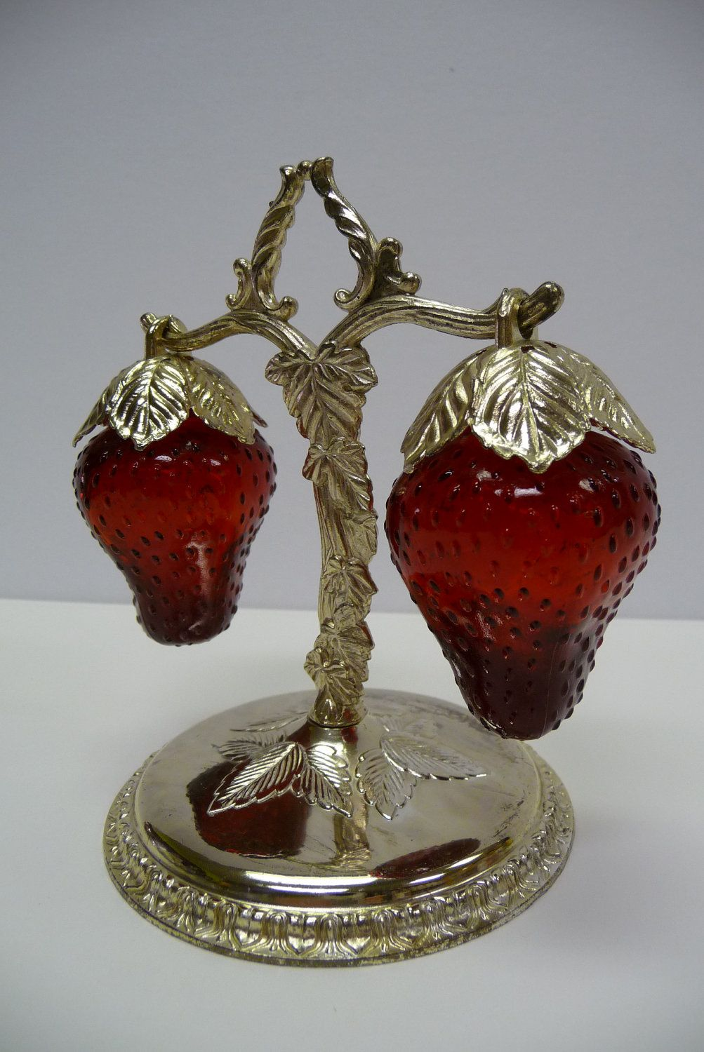 Vintage Strawberry Salt And Pepper Shakers My Mom Loved Collecting