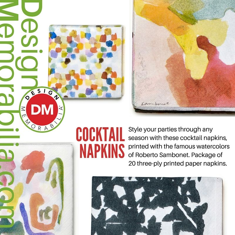 Cocktail Napkins designed by Roberto Sambonet // #DesignMemorabilia #Italy #kichen #kitchenware #home #homedecor #shop #gift #creative #design #napkins #cocktail #RobertoSambonet
