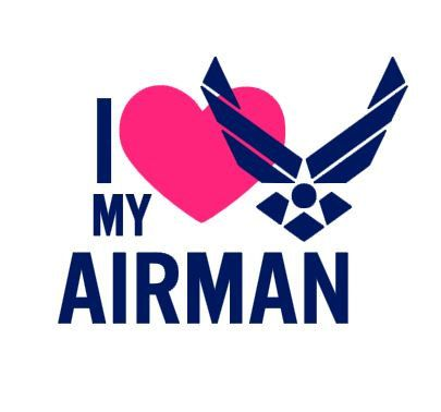 I Love An Airman Necklace | Air Force Wife Necklace | Air Force Wife Jewelry | Air Force Girlfriend Necklace | Air Force Girlfriend Jewelry | Air