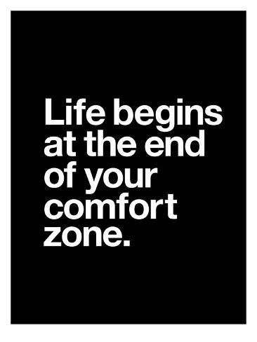 Giclee Print: Life Begins at the End of Your Comfort Zone by Brett Wilson : 40x30in