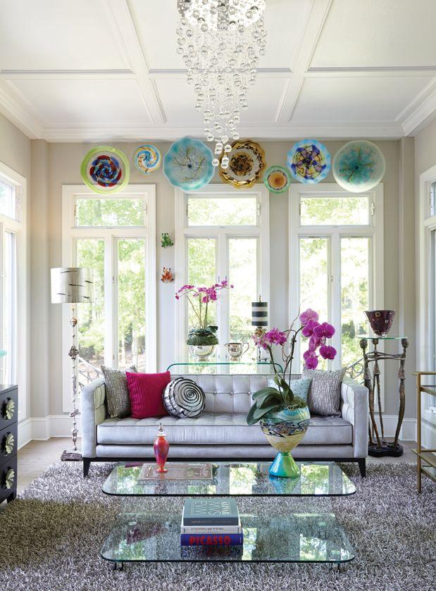 Birmingham Home U0026 Garden 2013 Show House Blown Glass Flower Sculptures  Above The Windows Add