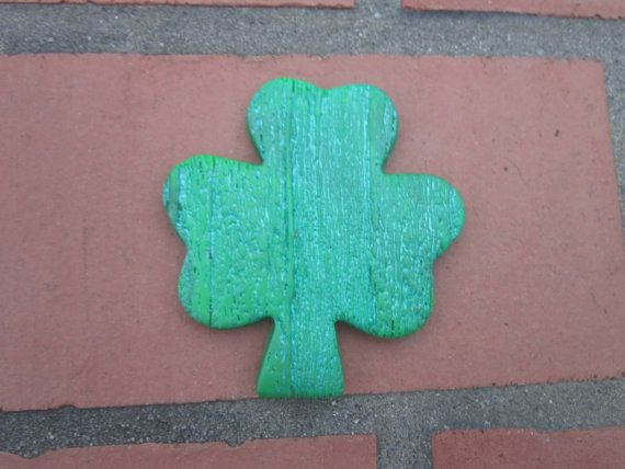 Shamrock, 3 leaf clover, Green tied dyed Shamrock,