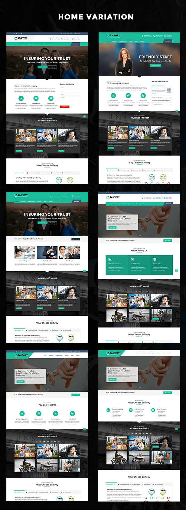 Saifway - Insurance Agency HTML5 Template | Insurance agency and ...