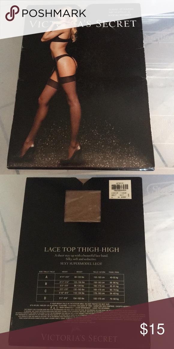 a026d264432 Victoria s secret stockings lingerie nude Sz C Boutique