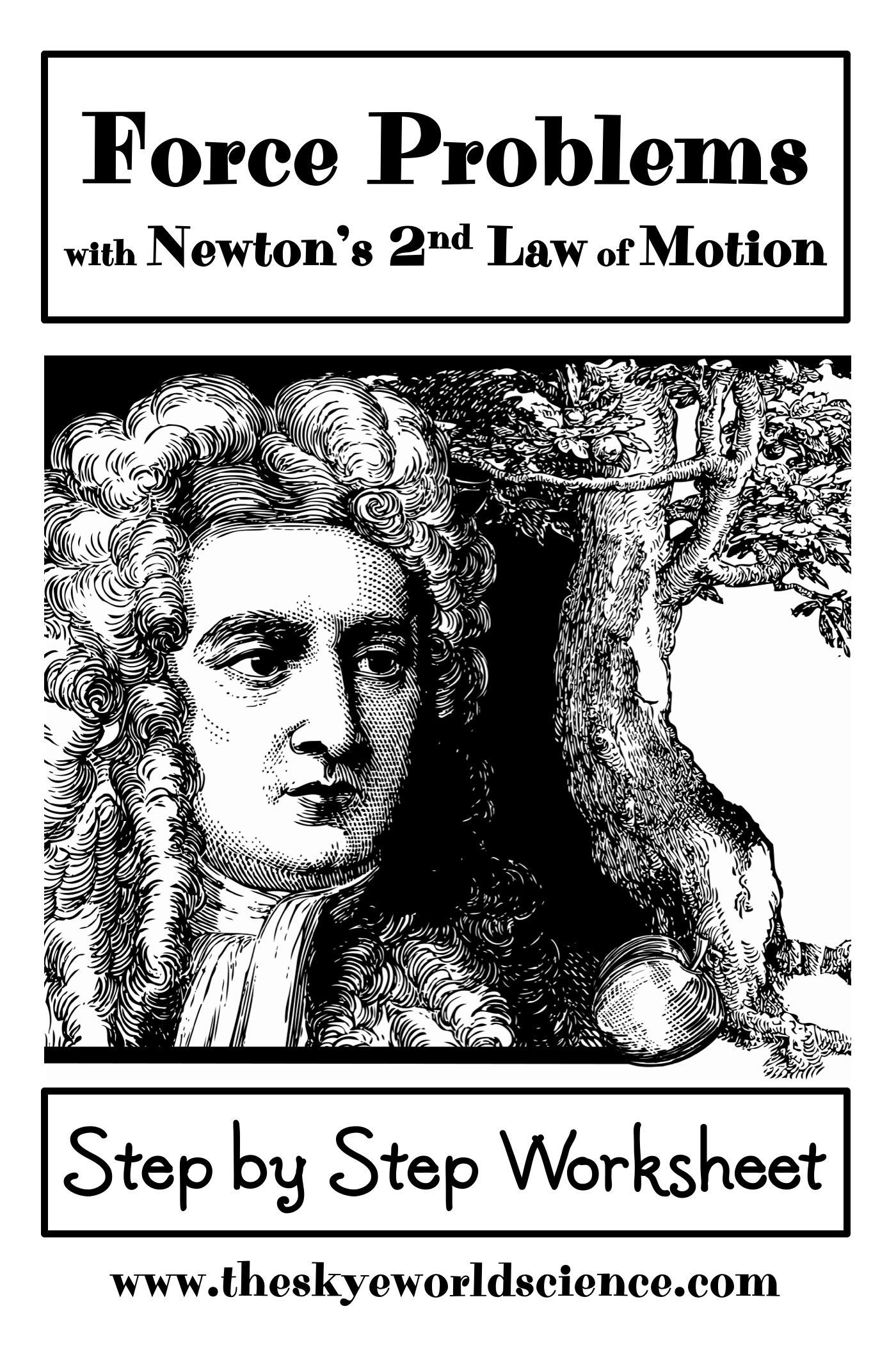 Force Problems Using Newton S 2nd Law Of Motion Worksheet