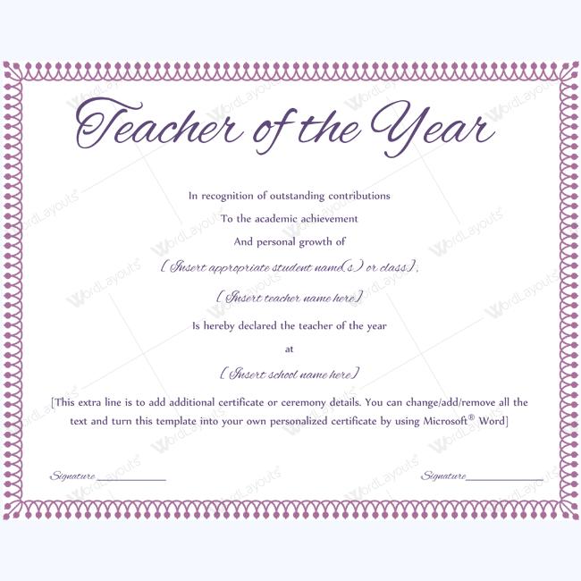 Teacher of the year 09 certificate and teacher certificate for teacher of the year teacheraward excellentteachingaward award teacheroftheyear certificate yadclub Image collections