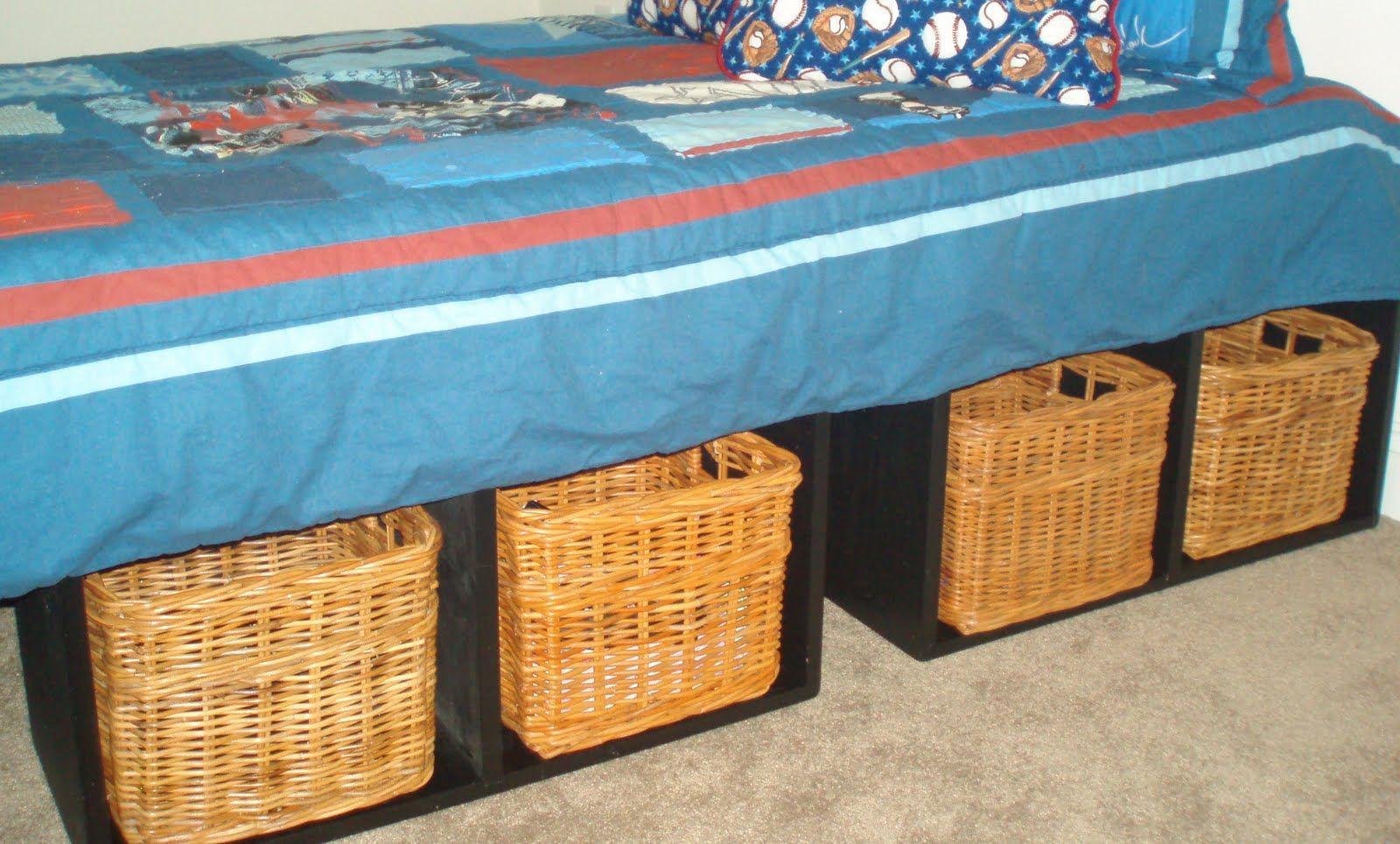 Diy twin platform bed with storage - Diy Twin Platform Bed Frame Made From Shelves