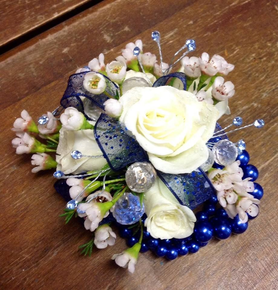 Perfectly accented prom corsage for a royal blue dress dressed up perfectly accented prom corsage for a royal blue dress izmirmasajfo Gallery