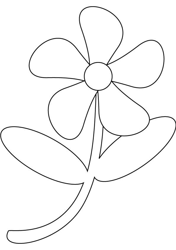 easy flower coloring pages - Google Search | Flowers to craft ...