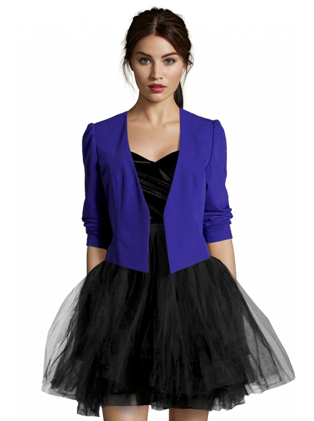 NAF NAF - Robe bustier velours et tutu NOIR - Evening Femme Taille ...