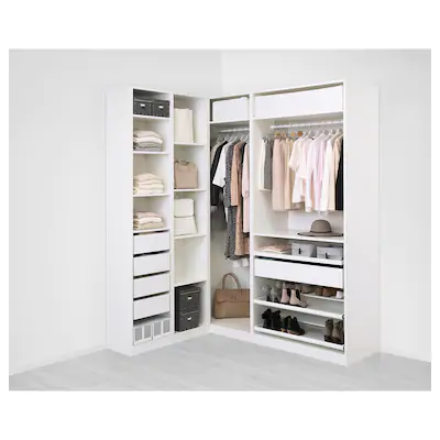Pax Armoires Sans Portes Ikea Penderie D Angle Armoire D Angle Idee Dressing