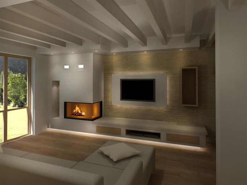 render camini moderni (2) | camino | pinterest | living rooms, tv ... - Salone Moderno Con Camino 2