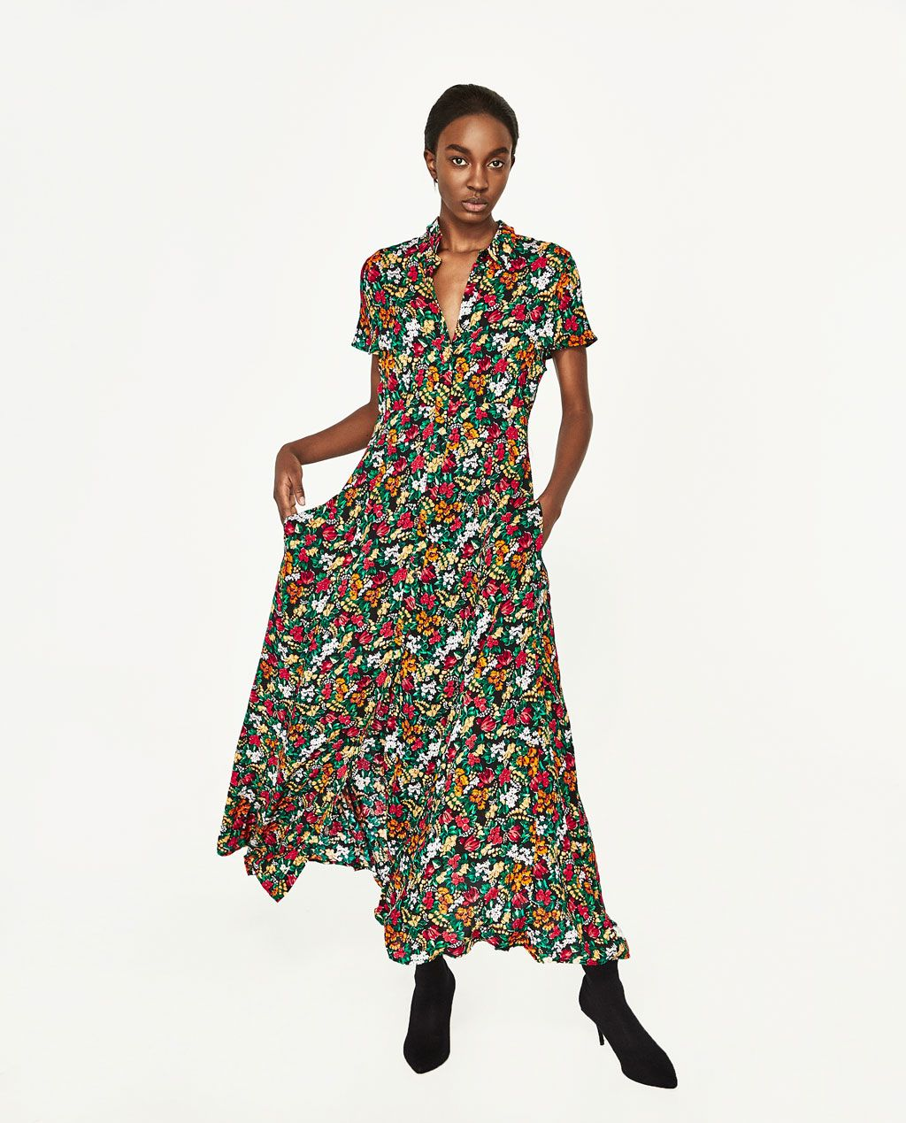 94f7c00d4ff1 Image 1 of FLORAL PRINT DRESS from Zara