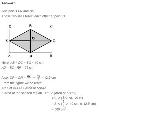 Mensuration RS Aggarwal Class 7 Maths Solutions Exercise 20D
