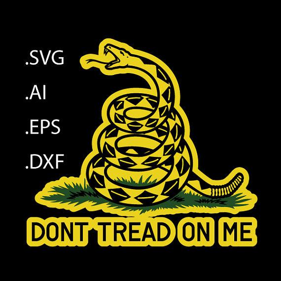Dont Tread On Me Gadsden Flag Window Decal Svg Eps Ai