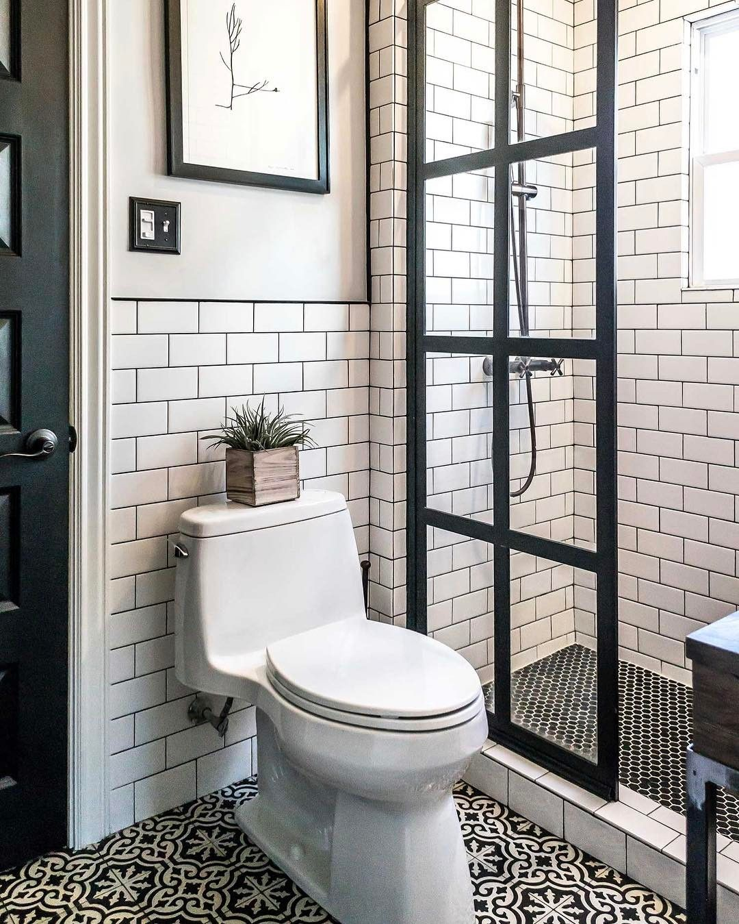 small bathroom renovations with amazing mosaic | Wow what a great look! This tile pattern is so versatile ...
