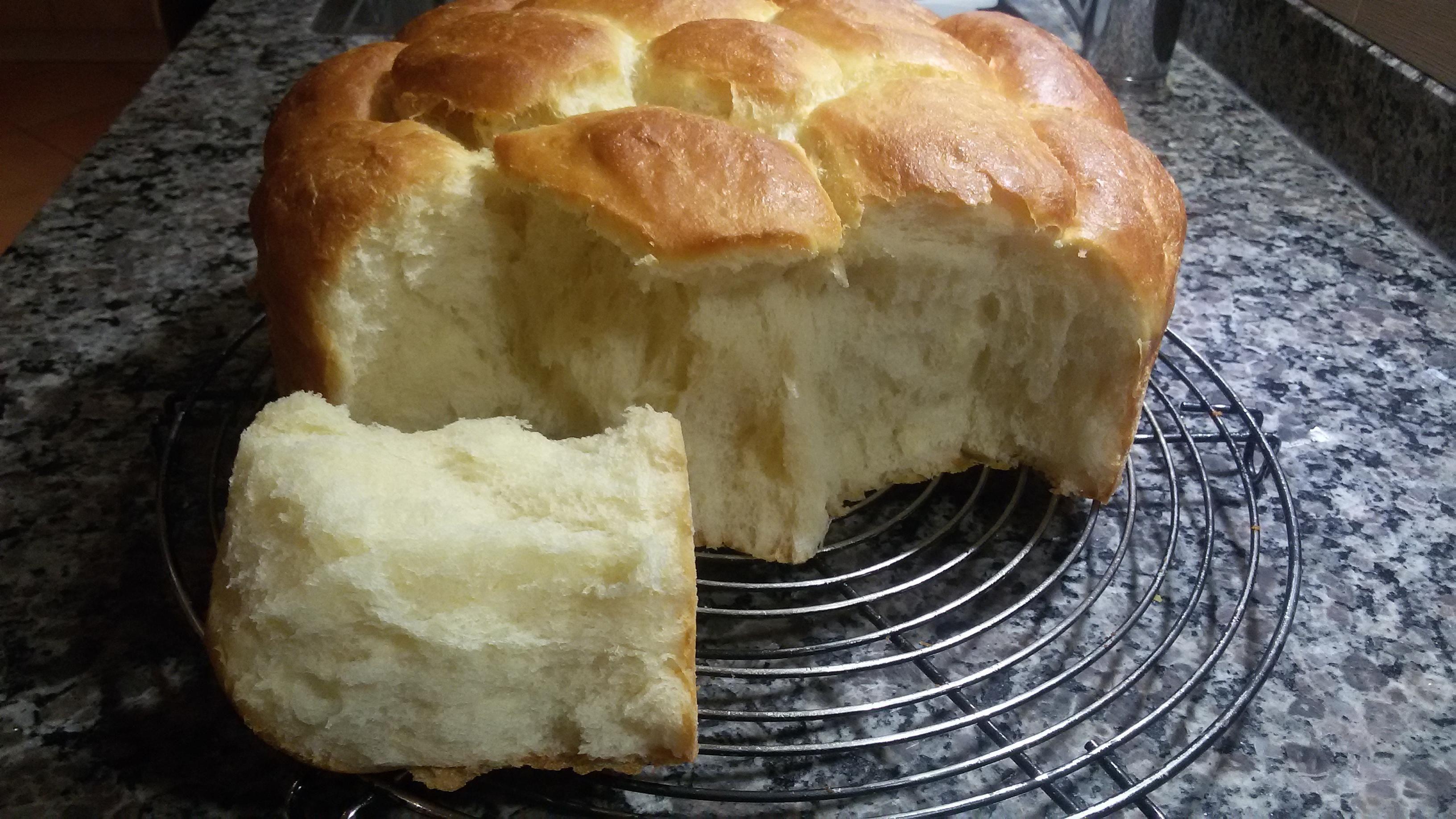 Brioche Buchty ohne Butter mit Crème fraîche