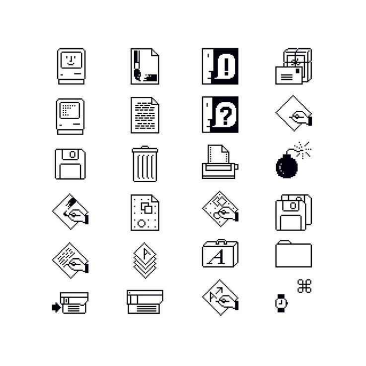 Susan Kare, Macintosh Icons, 1984. Apple Computer Inc. USA