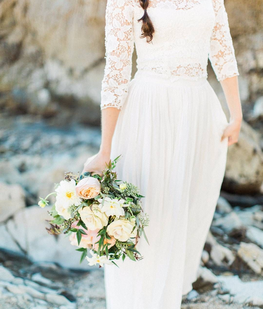 This ethical wedding dress by Puremagnolia is beautiful! #ecowedding ...