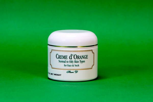 Créme D'Orange- This is a creme derived from fermented orange peel oils has a lower ph ( more acid) formula and especially blended to help control oils and balance skin tone. For normal to oily skin types it is considered the all day skin moisture creme. Men enjoy it as the perfect after shave moisturizer as it does not contain any alcoholfound in some lotions that have a tendancy to dry and irritate the skin. it will not leave your skin greasy or sticky.