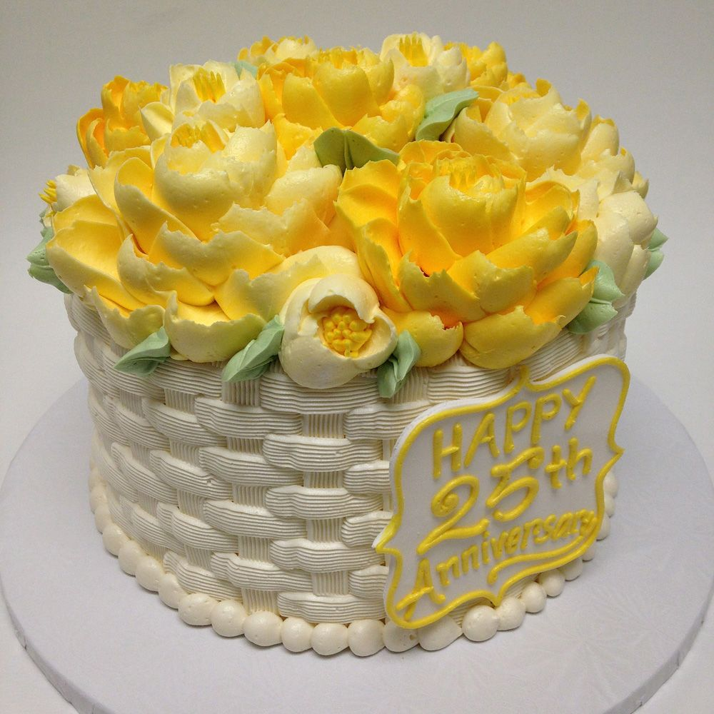 basket weave cake basket weave butter 25th anniversary cake cake 1510