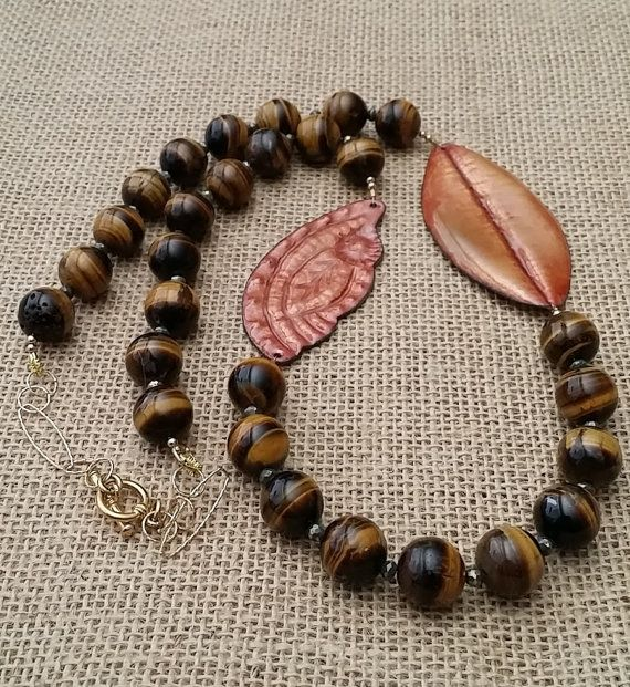 Hey, I found this really awesome Etsy listing at https://www.etsy.com/listing/386947128/copper-enameltiger-eye-beads-goldfield
