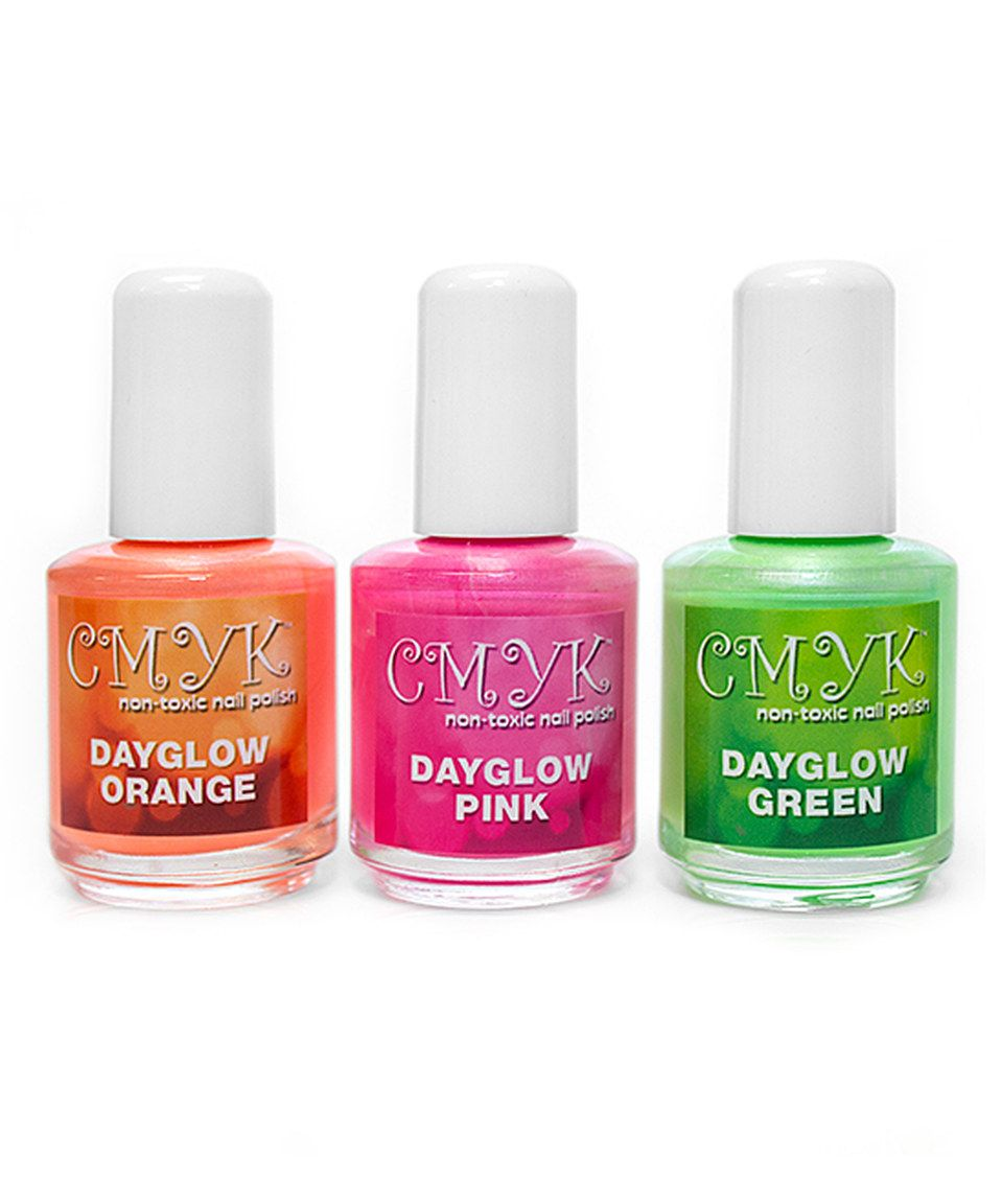 Look at this #zulilyfind! CMYK Non-Toxic Nail Polish The Day Glow ...