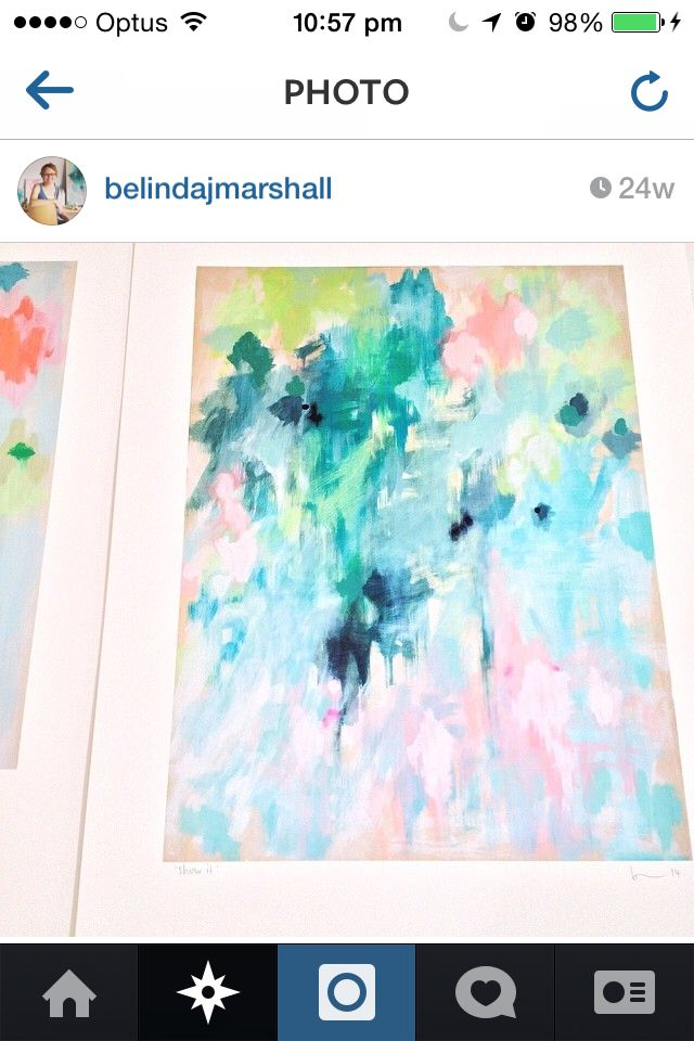 My fav Belinda J Marshall print would love to own this piece ..will save up for a a3 print for my home office! It's happy colours will tie all my treasures together! What a talent!