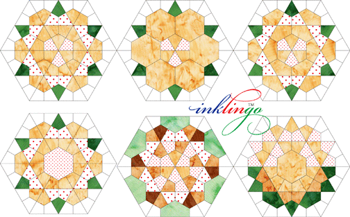 Use Inklingo Kites To Make Rose Star English Paper Piecing Quilts Hexagon Quilt Quilts