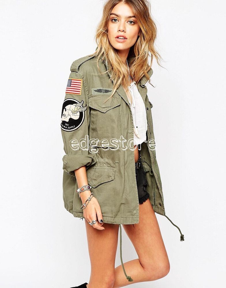 f6901450ca173 Ralph Lauren Denim & Supply Women Military Army American Flag Skull Field  Jacket | Clothing, Shoes & Accessories, Women's Clothing, Coats & Jackets |  eBay!