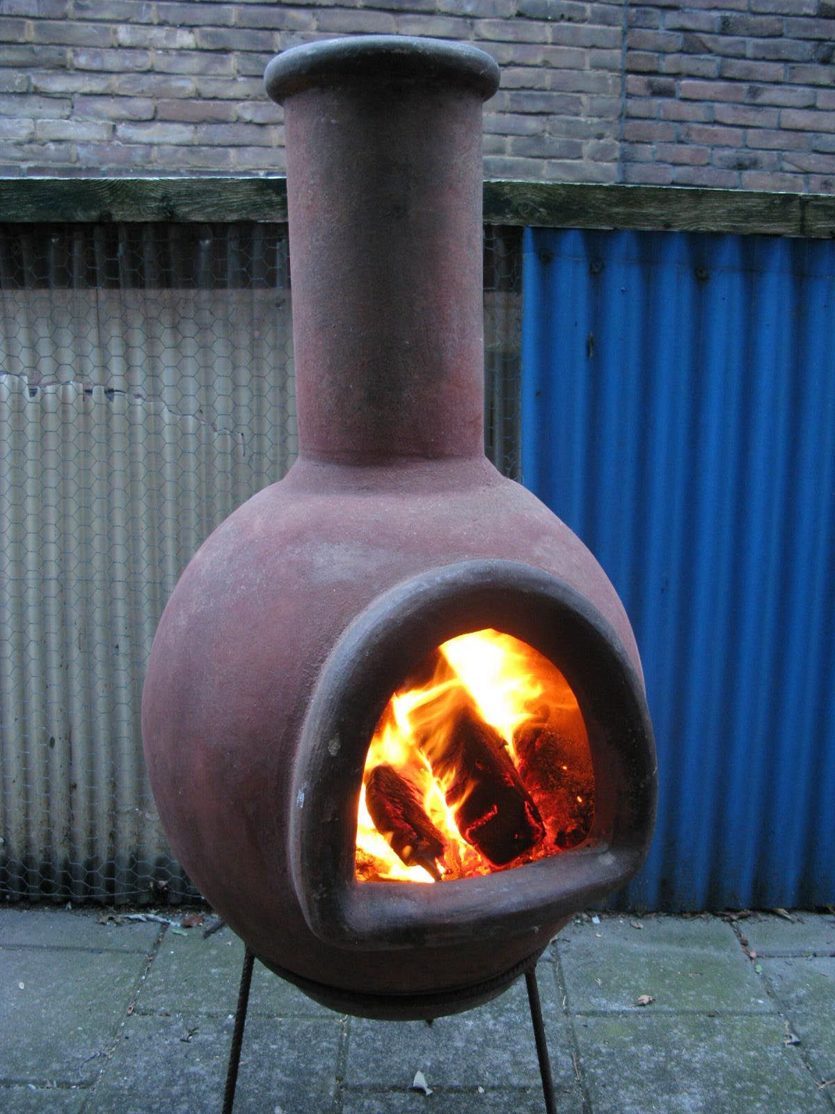 Terra Cotta Fire Pit Chimney Fire Pit In 2019 Chiminea