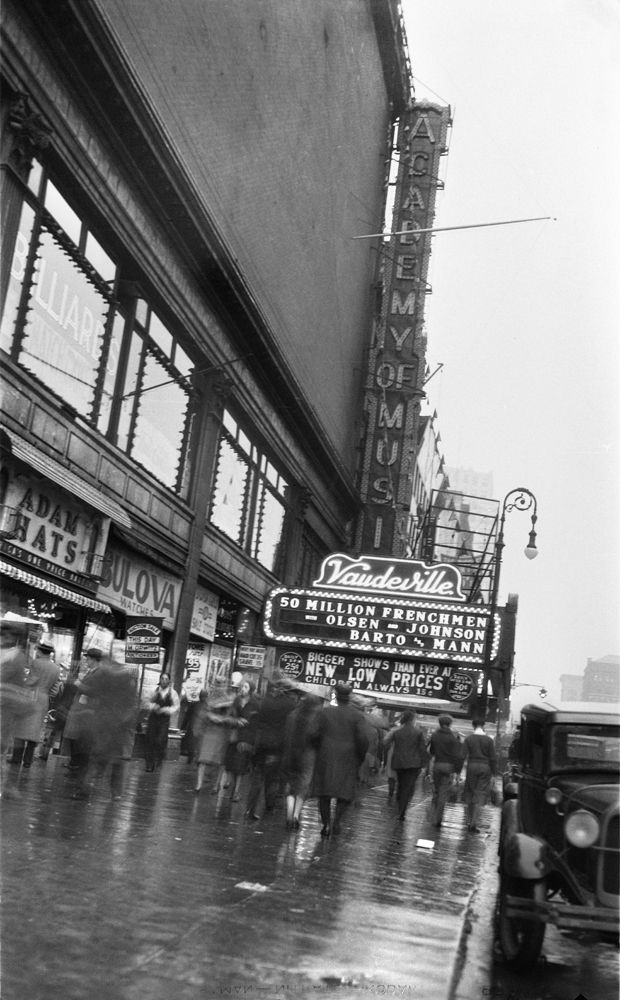 6128d85a8d0 Theater marquee for The Academy of Music later known as The Palladium