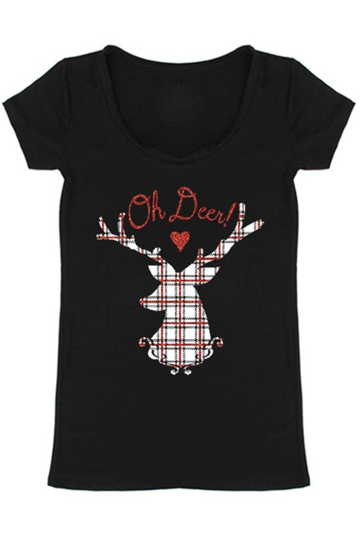 Oh Deer! Christmas Holiday Graphic T-Shirt | Pinterest | Christmas ...